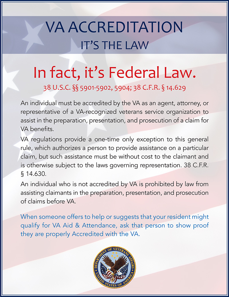 VA Accreditation Flyer - It's The Law - FINAL in-house_for web