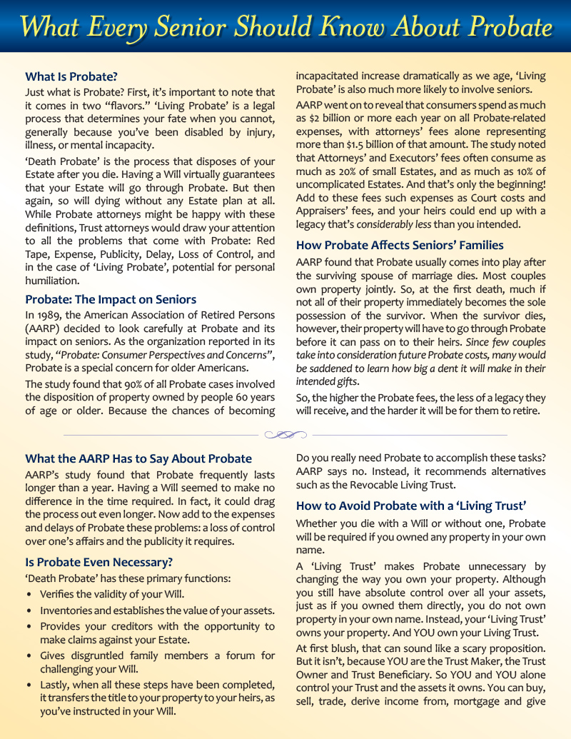 What Every Senior Should Know About Probate - 2 sided flyer -FINAL for web - front